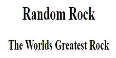 Random Rock