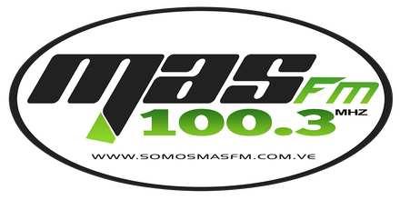 """<span lang =""""es"""">Mas FM 100.3</span>"""
