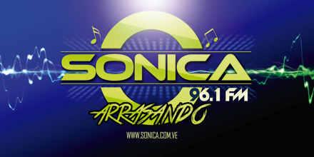 """<span lang =""""es"""">Sonica FM 96.1</span>"""