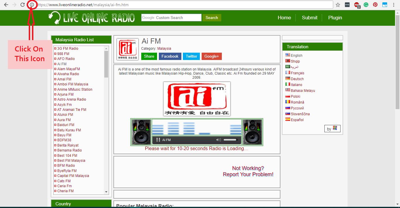 Enabling Flash on Google Chrome - Live Online Radio