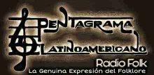 """<span lang =""""es"""">Pentagrama Latinoamericano Radio Folk</span>"""
